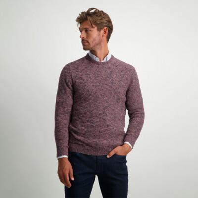 Textured-wool-look-jumper---midnight/sepia