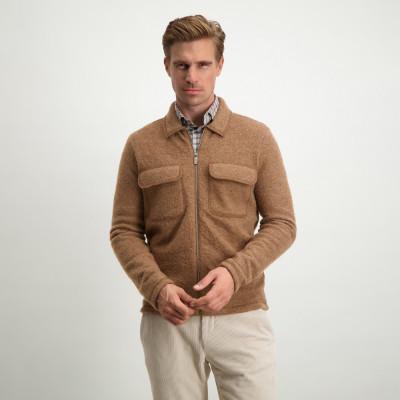 Modern-Classics-cardigan-in-pure-wool---cognac-plain