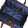 Weekend-Bag-of-Buffalo-Leather---dark-brown-plain