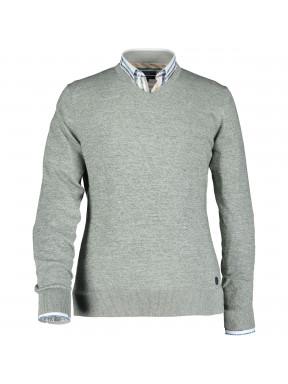 Pullover,-V-Ausschnitt,-uni