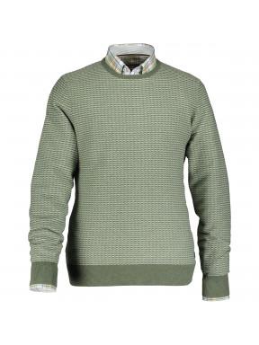 Pullover,-100%-Baumwolle,-Jacquard
