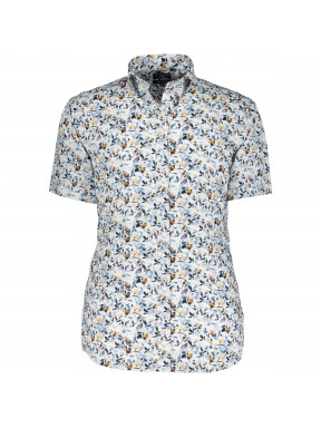 Hemd,-Botanic-Print,-Popeline