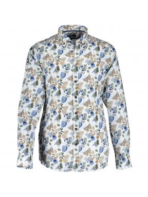 Hemd,-Vogel--und-Schmetterlingsdruck