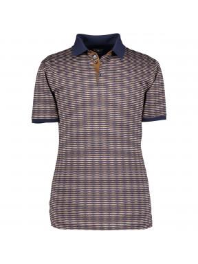 Poloshirt,-Jacquard-merzerisiert