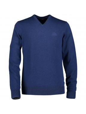 Pull-à-col-V-tricot-fin