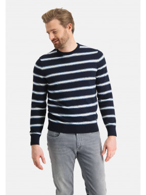 Jumper-made-of-cotton---midnight/grey-blue