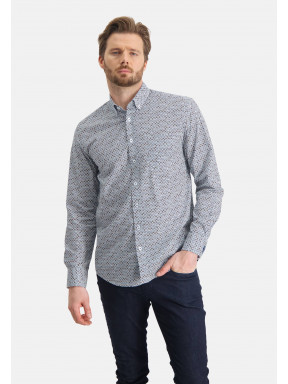 Shirt-with-a-graphic-print---cobalt/mango