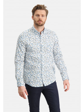 Shirt-with-a-floral-print---white/cobalt
