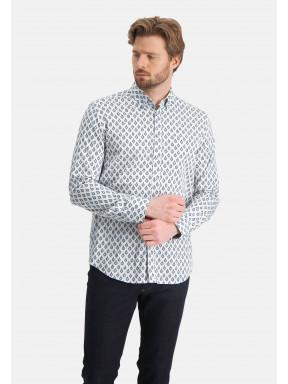 Shirt-with-a-satin-look---cobalt/light-bleu