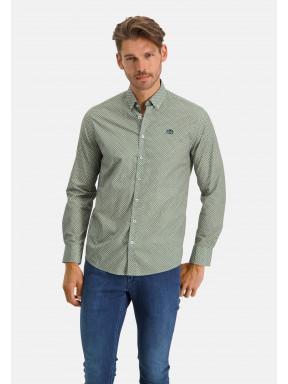 Hemd,-Druck---schwefelgelb/blattgrün