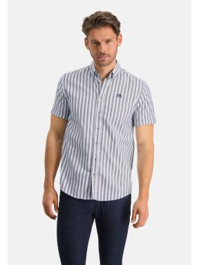 Gestreept-overhemd-met-regular-fit---wit/kobalt