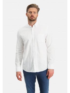 Hemd,-Leinen-Mix---weiß-uni