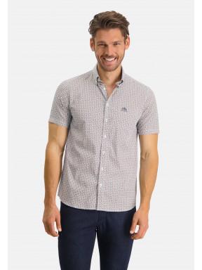 Overhemd-met-grafische-print---mango/kobalt