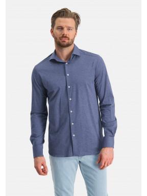 Plain-shirt-with-a-cut-away-collar---cobalt-plain