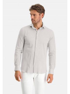 Plain-shirt-with-a-cut-away-collar---silvergrey-plain