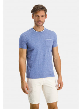 T-shirt-with-crew-neck-an-chest-pocket---cobalt/mid-blue