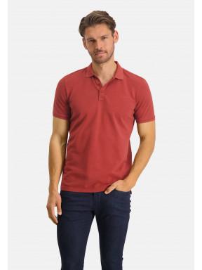 Poloshirt,-Piqué,-regular-fit---ziegel-uni