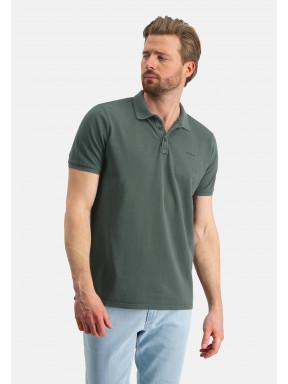Poloshirt,-Piqué,-regular-fit---dunkelgrün-uni