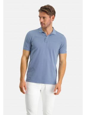 Poloshirt,-Piqué,-regular-fit---grau-blau-uni