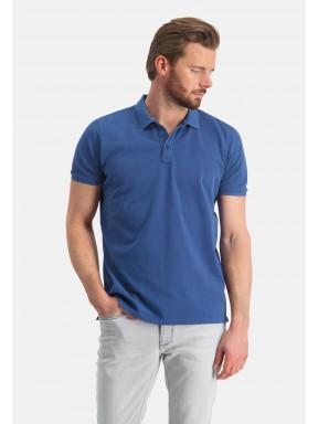 Poloshirt,-Piqué,-regular-fit---kobalt-uni
