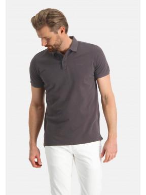 Poloshirt,-Piqué,-regular-fit---dunkelbraun-uni