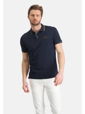 Poloshirt,-merzerisiert---dunkelblau-uni