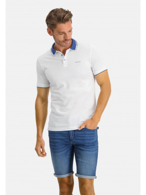 Poloshirt,-Supima-Baumwolle---weiß/kobalt