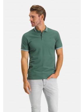 Poloshirt,-regular-fit,-Brustlogo---dunkelgrün-uni