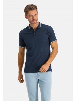 Poloshirt,-regular-fit,-Brustlogo---dunkelblau-uni