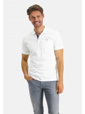 Poloshirt,-Piqué,-Pima-Baumwolle---weiß-uni