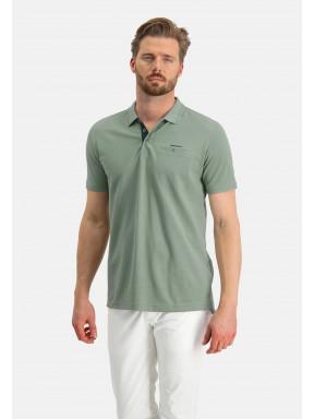 Poloshirt,-Piqué,-Pima-Baumwolle---blattgrün-uni