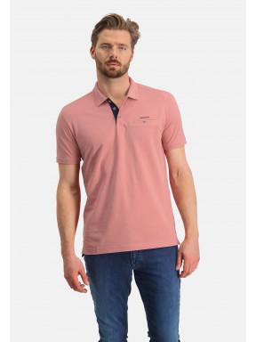 Poloshirt,-Piqué,-Pima-Baumwolle---rosa-uni