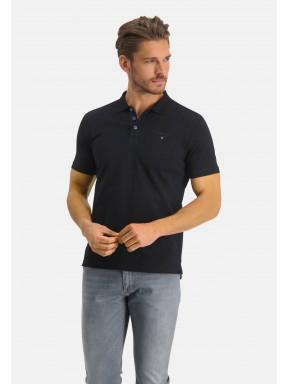 Poloshirt,-Piqué,-Pima-Baumwolle---schwarz-uni