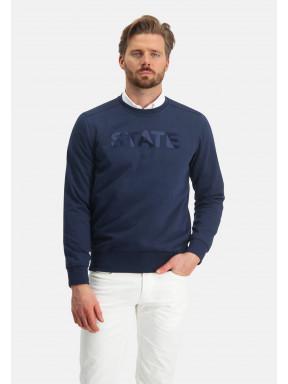 Sweatshirt,-Artwork---dunkelblau-uni
