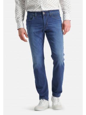 5-Pocket,-Stretch-Jeans---kobalt-uni