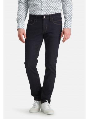 5-Pocket,-Stretch-Jeans---dunkelblau-uni