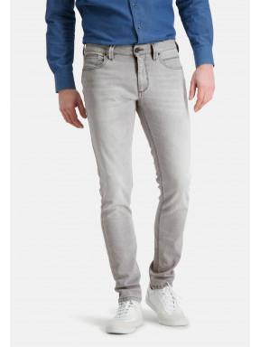 5-Pocket,-Stretch-Jeans---silbergrau-uni