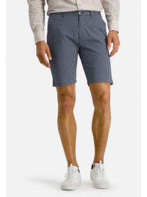 Short,-Streifen,-Baumwoll-Stretch---dunkelblau/weiß