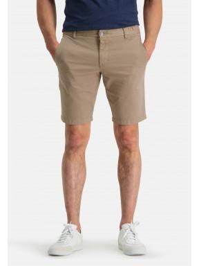 Shorts,-Chino-Look---grünbraun-uni
