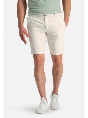 Shorts-of-a-linen-blend---cream-plain