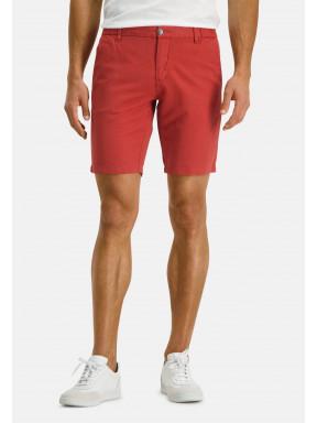 Shorts-of-a-linen-blend---brick-plain