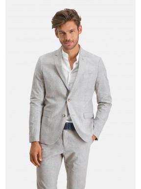Modern-Classics-blazer-with-a-checked-pattern---lightgrey/cream
