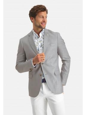 Modern-Classics-blazer-of-a-linen-blend---lightgrey-plain