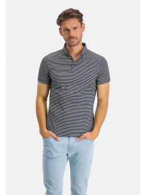 Modern-Classics-polo-of-mercerized-cotton---dark-blue/white