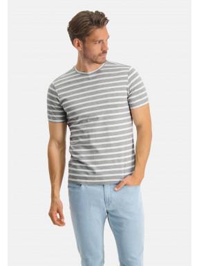 Modern-Classics-T-Shirt,-Streifen---hellgrau/weiß