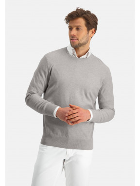 Modern-Classics-Pullover,-Pima-Baumwolle---greige-uni