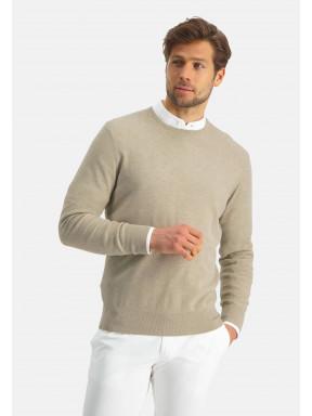 Modern-Classics-Pullover,-Pima-Baumwolle---sand-uni