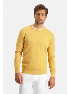 Modern-Classics-Pullover,-Pima-Baumwolle---hellgelb-uni