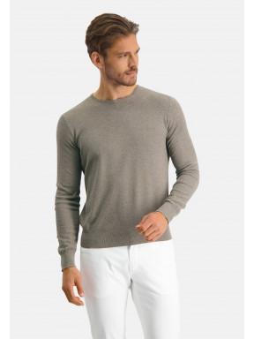 Modern-Classics-Pullover,-Pima-Baumwolle---hellbraun-uni