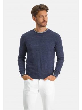 Modern-Classics-Pullover,-Feinstrick---dunkelblau-uni